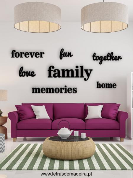 Conjunto Palavras Family